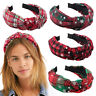 Christmas Headband Party Knotted Knitted Hair Hoop Cross Wide-Brimmed Head Hoop