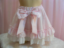 SISSY ADULT BABY FANCY DRESS pink cotton frilly MINI SKIRT kawaii COSPLAY