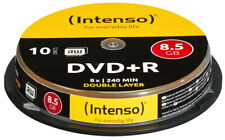 10 Intenso Rohlinge DVD+R Double Layer 8,5GB 8x Spindel