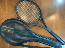 """Vintage Mcenroe Autograph Dunlop Mid-Size Graphite Tennis Racquet Racket 4 3/8"""""""