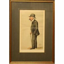 Baron Hirsch Original Framed Victorian Vanity Fair Liborio Prosperi Print