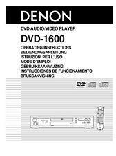 Denon DVD-1600 DVD Player Owners Manual