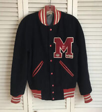 Mens Vintage Wool Varsity Letterman Jacket Medium? St. M Navy Blue 60's Or 50's