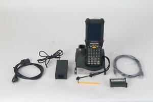 Motorola Symbol MC9190 Portátil Escáner Código de Barras WinCE6 Con Cuna y Lápiz