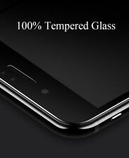 For iPhone 8 5D Curved Edge Tempered Glass Film Full Screen Protector BLACK
