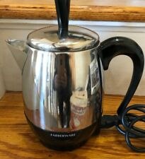 FARBERWARE 2-4 CUP STAINLESS STEEL ELECTRIC COFFEE PERCOLATOR - FCP240