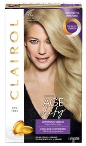 Clairol Age Defy Lumious Color 9A Light Ash Blonde Tri-Plex Formula (Pack OF 3)