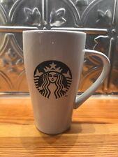 Tall Black White Mermaid Starbucks Coffee Mug Cup 18 Ounces Logo 2014