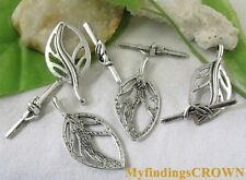 25sets Tibetan silver leaf toggle clasps FC5199