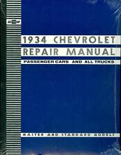 1934  CHEVROLET PASSENGER CAR/TRUCK SHOP MANUAL