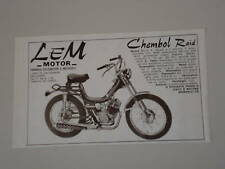 advertising Pubblicità 1976 LEM MOTOR CHEBOL RAID