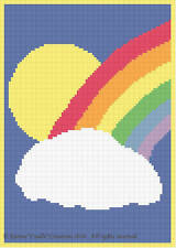 Crochet Patterns - RAINBOW SUN CELESTIAL Pattern *EASY*