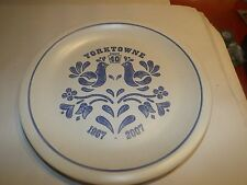 "Pfaltzgraff YORKTOWNE 11"" 40 YEARS COMMEMORATIVE EDITION PLATE"