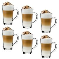 Coffee Glasses 320 ml  Tea Cappuccino Glass Coffee Cups Mugs  Latte Glasses