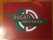 Tin Sign Vintage Ducati Meccanica