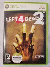 Left 4 Dead 2 Microsoft Xbox 360 2009 Complete Very Good Condition