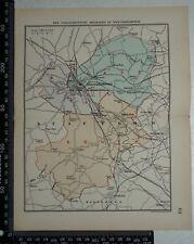 1885 Original Stanford's Parliamentary Divisions of Wolverhampton Map