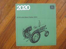 Swedish John Deere 2020 Traktor Tractor Brochure