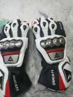 DUCATI RED BLACK MOTOGP MOTORBIKE MOTORCYCLE COWHIDE LEATHER BIKERS GLOVES