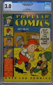 POPULAR COMICS #22 CGC 3.0 TERRY AND THE PIRATES GASOLINE ALLEY ORPHAN ANNIE
