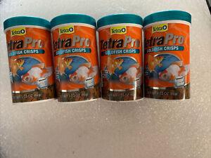 4-PACK Tetra Pro Goldfish Crisps with biotin for Optimal Health 3.03 oz