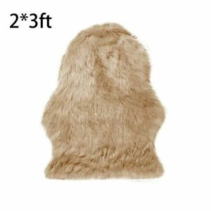 Soft Faux Sheepskin Fur Chair Couch Cover Rug Bedroom Floor Sofa Living Room