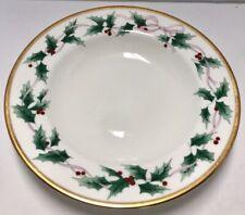 "NEW Mikasa Ribbon Holly Salad Plate Fine Bone China Christmas CAF03  8.25/"""
