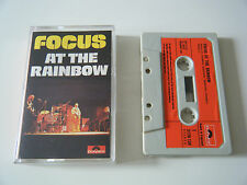 FOCUS LIVE AT THE RAINBOW CASSETTE TAPE ORIG 1973 RED PAPER LABEL POLYDOR UK