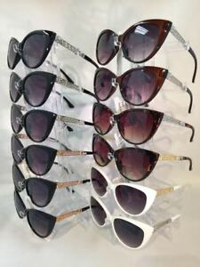 #CW6060 Cat-eye Designer Inspired Style Women Sunglasses Wholesale 12 pair