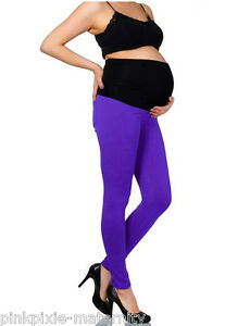NEW Maternity Pregnancy Over Bump Leggings 2 Tone Colour Sz 8 10 12 14 16 18 20