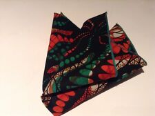 Mens Contemporary pocket square Cotton Multicolour