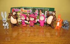 Kinder surprise egg set - Masha and the bear cartoon 8 figures toys collection