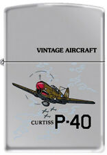 US Army P40 Curtiss WWII USN Vintage Military Aircraft Chrome Zippo Lighter