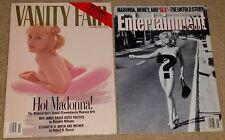 Madonna 1992 Vanity Fair & Entertainment Weekly nude hitchhiker magazine Oct Nov