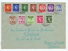 MOROCCO AGENCIES - TANGIER 1957 SET TO 9d ( 12 ) USED ON COVER FDI