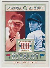 DON SUTTON 2013 Panini Hometown Heroes Baseball Rivalry Card #R20 Angels Dodgers