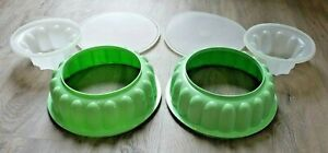 Lot of 2 Tupperware Jello Mold Vintage Mint 3 Piece Jel N Serve Rings 1201~02~03