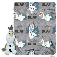 Happy Snowman Frozen Olaf Fleece Throw and Character Hugger Set
