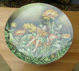 VINTAGE BORDER FINE ARTS THE MARIGOLD FESTIVAL OF FAIRYS PLATE MADE IN 1988