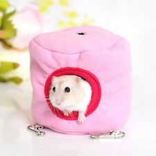 Mini Cute Hamster Hanging Cage Hammock with Bed Mat for Small Furry Animals