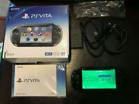 Sony PS VITA Black PCH-2000ZA11 Less Than 3.68 Fw3.67 + 8GB + Charger from Japan