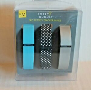 Smart Buddie Set of 3 Activity Tracker Bands for Fitbit Flex Wireless Wristband