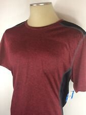 New Men's Revolution Polyester Red And Black Athletic T-shirt Size Large