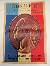 Vintage 1940 This Week Washington Torn Page One Page Incomplete
