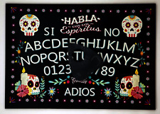 A4 Wooden Day of the Dead Ouija Board, Classic Sun, Moon & Stars with Planchette