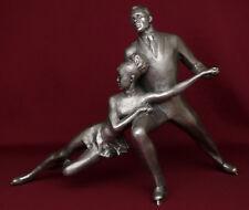 VERY RARE Russian Olympic Сhampions in Figure Skating metal sculpture statue