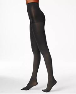 Hue Women Super Opaque Control Top Tights Black Size 2 0650