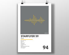 Starflyer 59 - Silver - Minimal Poster Rock Shoegaze Vinyl slowdive MBV curve