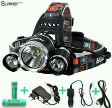 Ricaricabile 7000 Lm Lumen Torcia Da Testa 3 LUCE T6 Lampada frontale LED