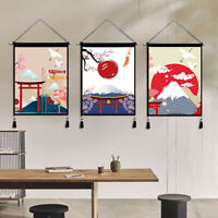 Japanisch Art Tapisserie Wandbehang Ornament Quaste Baumwolle Stoff DIY Geschenk